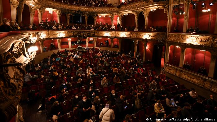 The audience at the Berliner Ensemble