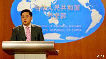China Außenministerium Sprecher Qin Gang