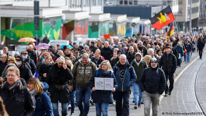 People marching in Kassel