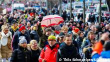Demonstrators protest against the government's coronavirus disease (COVID-19) restrictions in Kassel, March, 20, 2021. REUTERS/Thilo Schmuelgen