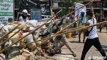 Myanmar Protest gegen Militär | Yangon