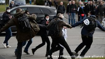 Демонстрация ковид-диссидентов в Касселе