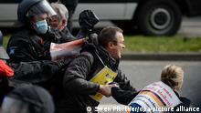 Deutschland Gewalt bei Demo gegen Corona-Maßnahmen in Kassel