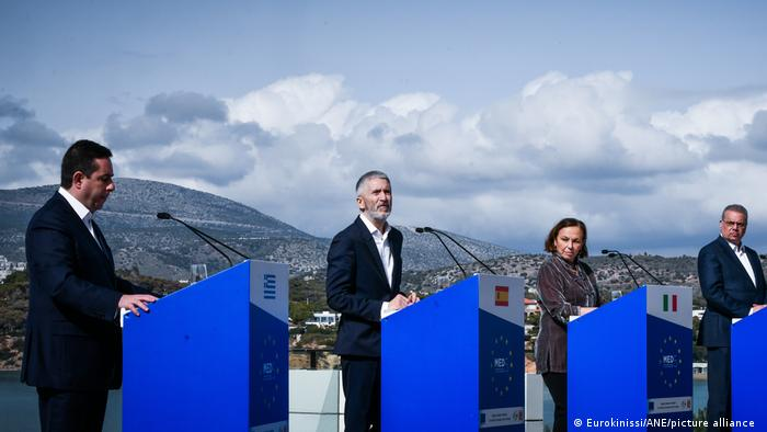 Ministers of Med5 countries speak together in Athens