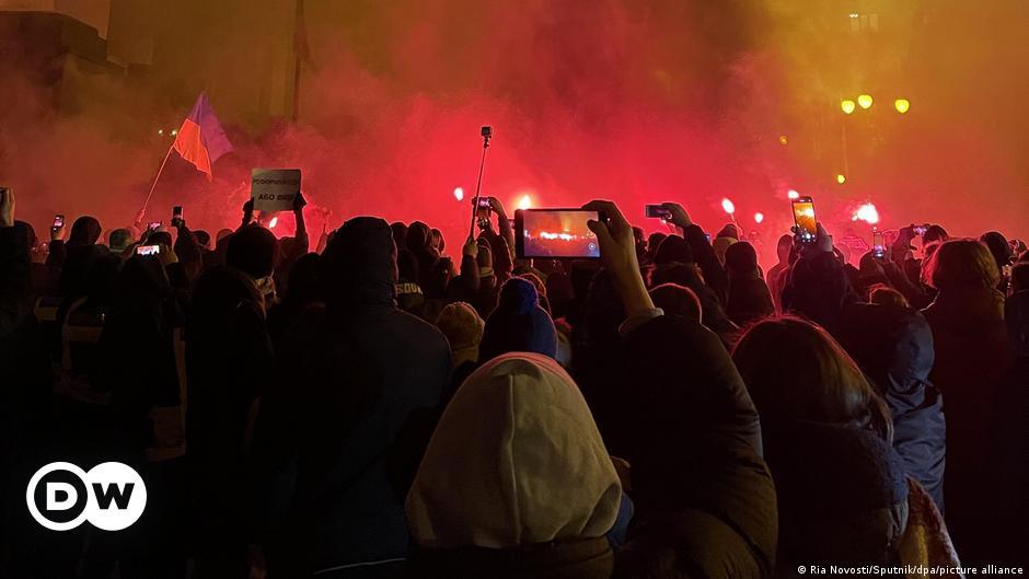 Manifestación en Ucrania contra condena de militante nacionalista