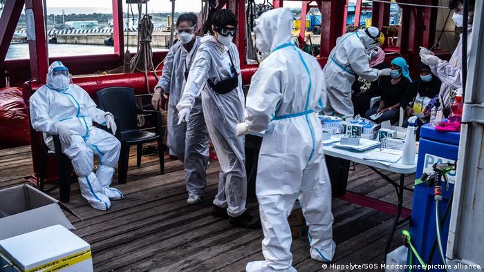 Ocean Viking Corona-Fälle auf dem Hilfsschiff