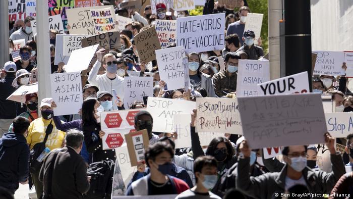 USA I Anti-Rassismus Demonstration in Atlanta