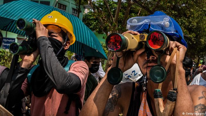 Учасники акцій протесту в М'янмі