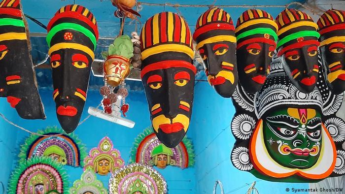 Chhau-Maske im indischen Bundesstaat Westbengalen