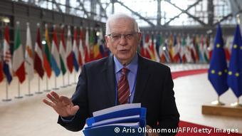 EU Außenminister Treffen in Brüssel Josep Borrell