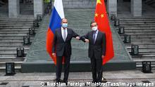 China Guilin Treffen Außenminister Wang Yi und Lawrow