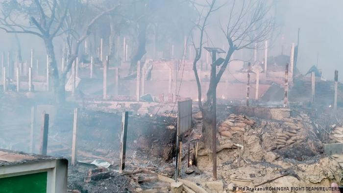 Bangladesch Cox´s Bazar | Feuer im Flüchtlingslager