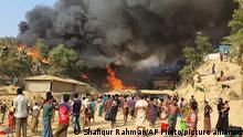 Bangladesch Feuer in Rohingya Camp Balukhali