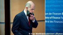 Finanzminister Scholz nach der Videokonferenz der Euro-Gruppe/ECOFIN