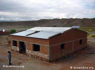 A school with a solar-powered roof in Argentina