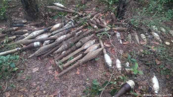 Angola Sprengkörper aus dem Bürgerkrieg geborgen | Menongue