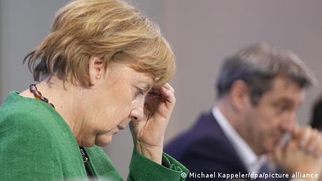 Reunión de Angela Merkel con los jefes de gobierno de los estados federados.