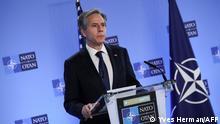 Belgien NATO l US-Außenminister Blinken u Jens Stoltenberg in Brüssel