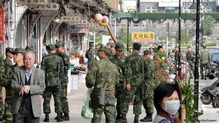 Taiwan Wahlen l Soldaten auf der Inselgruppe Matsu