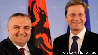 Ilir Meta and German Foreign Minister Guido Westerwelle