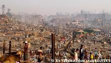 "*** Dieses Bild ist fertig zugeschnitten als Social Media Snack (für Facebook, Twitter, Instagram) im Tableau zu finden: Fach ""Images"" —> Rohingya - Brand im Flüchtlingslager Balukhali Cox's Bazar*** 23.03.21 *** A general view of a Rohingya refugee camp after a fire burned down all the shelters in Cox's Bazar, Bangladesh, March 23, 2021. REUTERS/Ro Yassin Abdumonab NO RESALES. NO ARCHIVES"