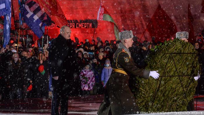 Александр Лукашенко на памятных мероприятиях в Хатыни, 21 марта