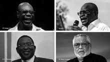 Afrika Bildkombo Afrikansiche Prominente, die Corona zum Opfer fielen
