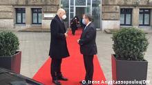 Deutschland Armin Laschet mit den griechischen Außenminister Nikos Dendias in Düsseldorf.