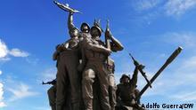 Angola Cuito Cuanavale Gedenkstätte Bronzestatue von Soldaten