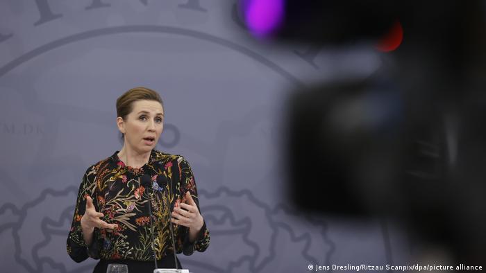 Dänemark Mette Frederiksen Pressekonferenz Covid-19