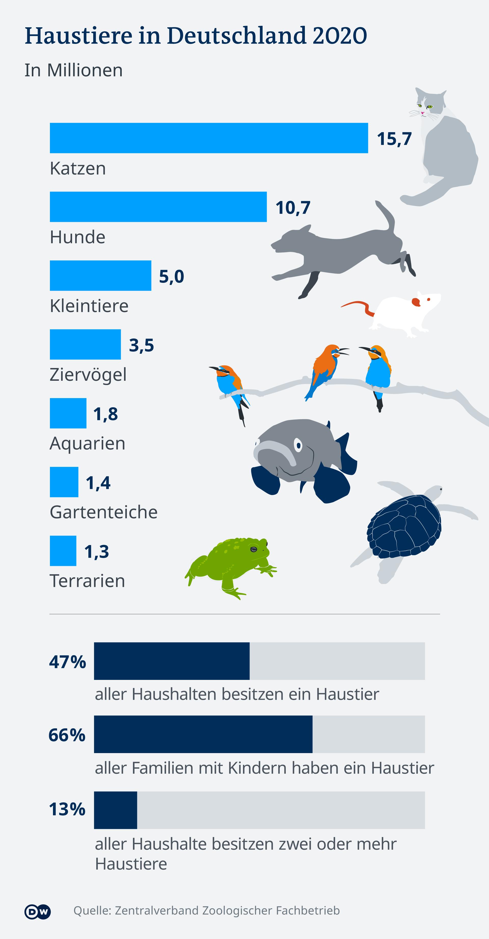 Infografik Beliebteste Haustiere in Deutschland DE
