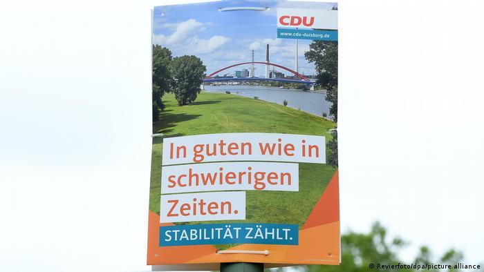 Deutschland Maskenaffäre in der CDU | Wahlplakat NRW