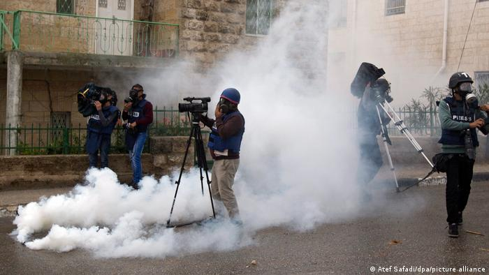 Clashes between Palestinians and Israeli troops in Ramallah