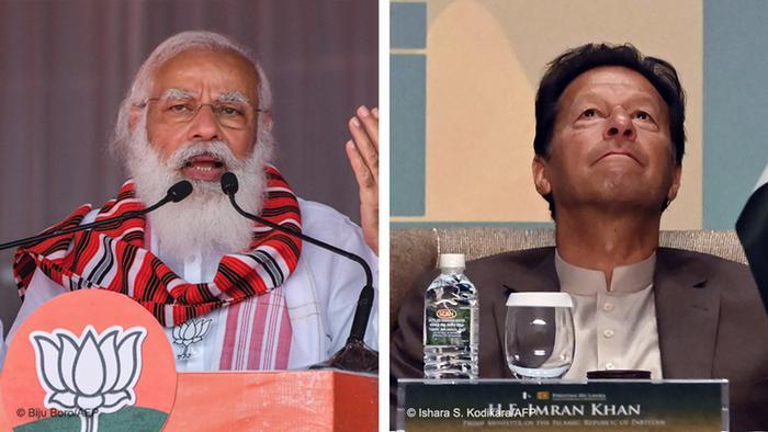 Kombibild Indien Pakistan | Narendra Modi und Imran Khan