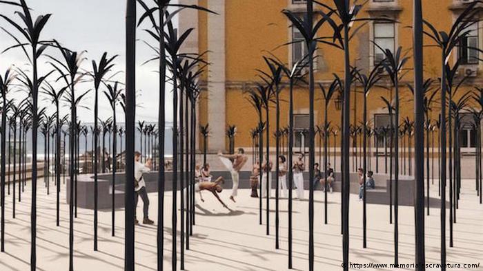 Portugal Lissabon Modell des angolanischen Künstlers Kiluanji Kia Henda