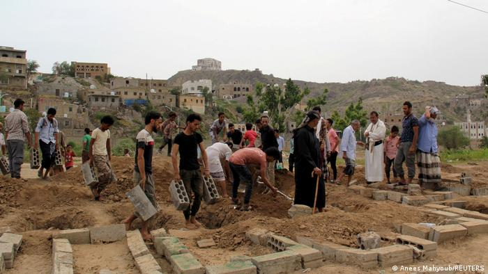 Beerdigung von Corona-Opfern in Taiz (24.06.2020)