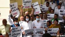 Indien Patna | Protest Tej Pratap Yadav und Tejashwi Yadav