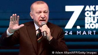 Ο πρόεδρος Ερντογάν στο συνέδριο του ΑΚΡ