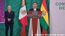 Bolivien Präsident Luis Arce und Präsident von Mexiko Andres Manuel Lopez Obrador