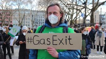 Участник протестов Fridays for Future в Кёльне, март 2021 года