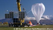 May 17, 2016 - Wanaka, New Zealand - The NASA super pressure balloon fully inflated and preparing for launch at Wanaka Aerodrome May 17, 2016 in Wanaka, New Zealand. Carried by the wind the balloon is expected to circumnavigate the globe in the southern hemispheres stratosphere providing inexpensive access to near-space research