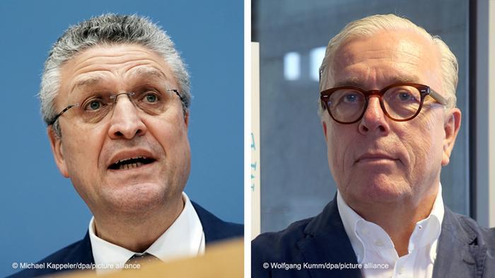 Im Lockdown-Dissens: RKI-Chef Lothar Wieler (links) und Bundesärztekammer-Präsident Klaus Reinhardt