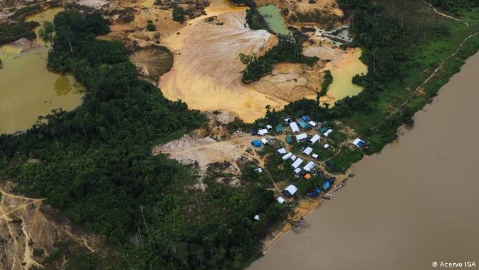Área de garimpo ilegal na Terra Indígena Yanomami