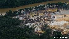 Bergbau im indigenen Territorium der Yanomami, Brasilien Datum: 2021 Copyright: Divulgação/ISA
