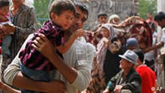 Flüchtlinge aus Kirgisistan (Foto: AP)