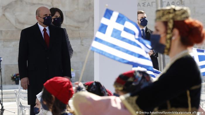 Griechenland Athen   Parade zu 200 Jahre Unabhängigkeit