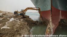 Ägypten Containerschiff Suezkanal Evergreen