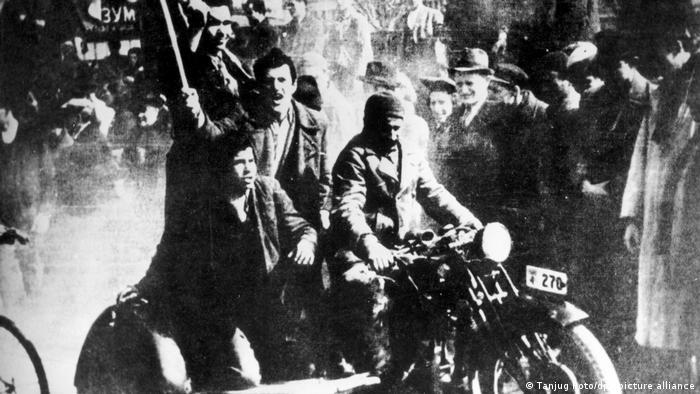Jugoslawien Unruhen in Belgrad - 1941
