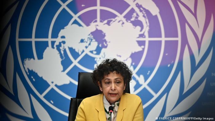 Irene Kahn at a UN event in Geneva