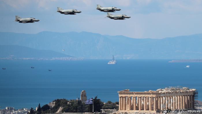 Griechenland 200 Jahre Unabhängigkeit | Kampfjets über Athen